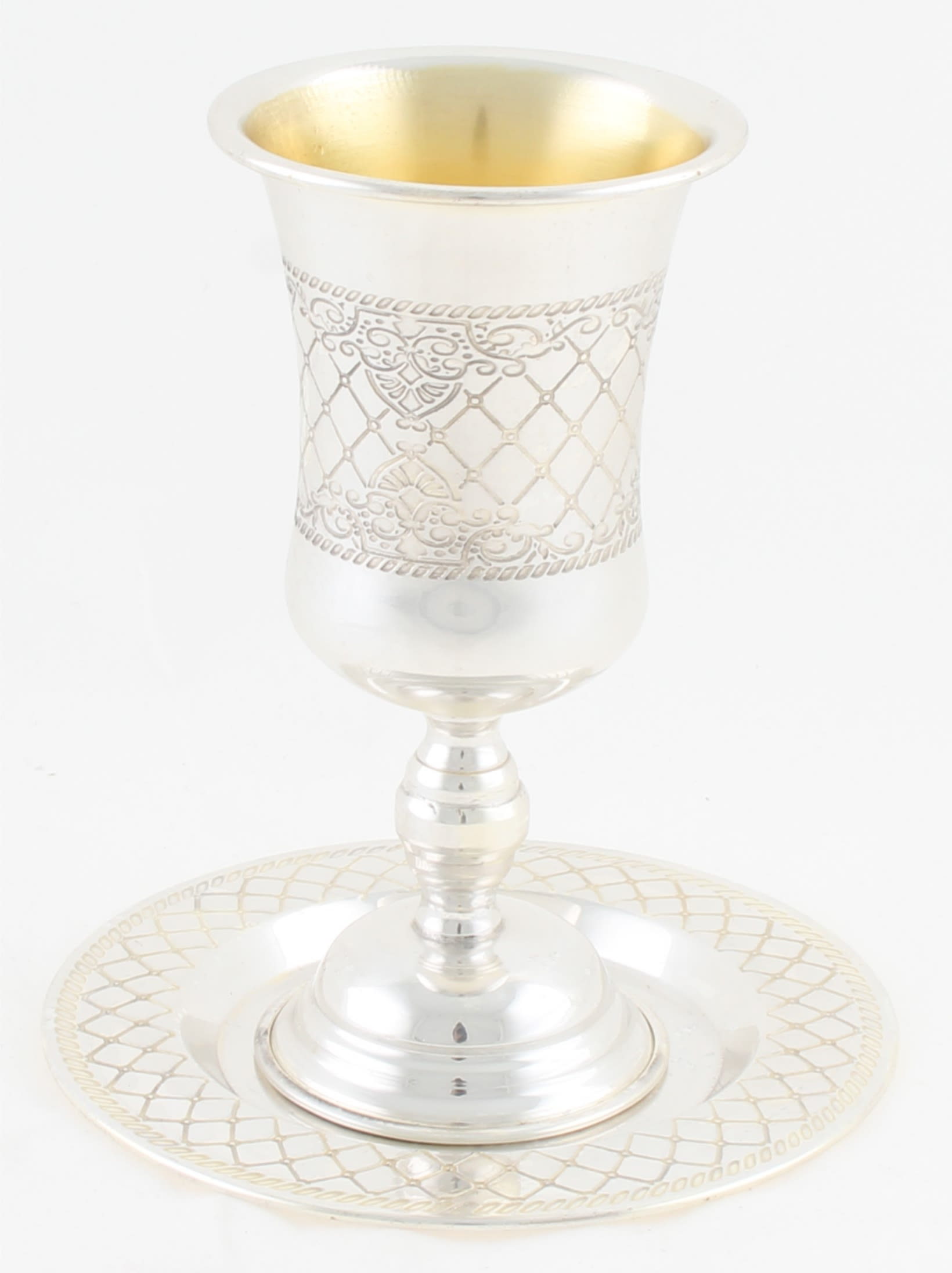 Silvered Kiddush Cup