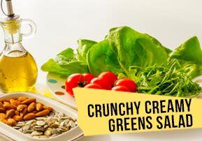 Crunchy Creamy Greens Salad