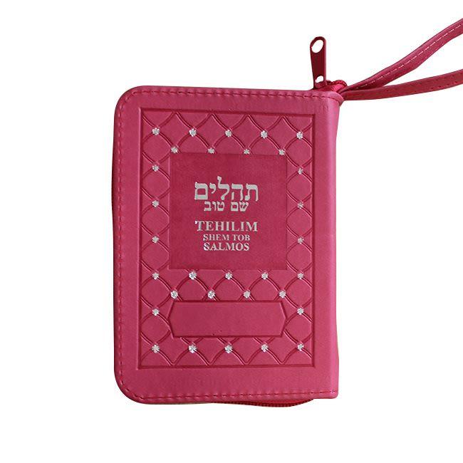 Mini Salmos Shem Tob con Fonética - tapa dura con cierre – Fucsia