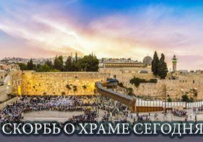 Скорбь о Храме сегодня