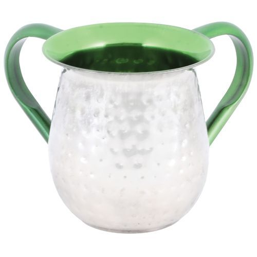Green-colored Aluminium Washing Cup