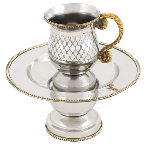 """Splendor"" Stainless ""Mayim Acharonim"" Set"