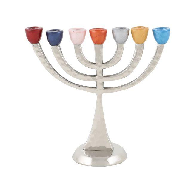 מנורה קנים צבעוניים - אלומיניום מרוקע