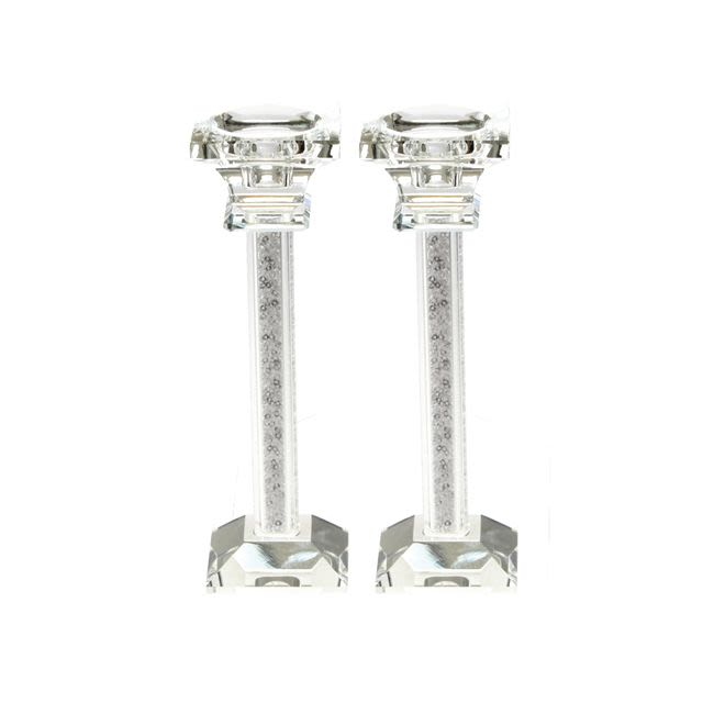"Crystal ""Stones"" Candlesticks"
