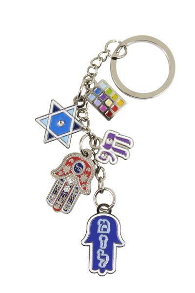 Schlüsselanhänger-Kette mit 5 Symbolen