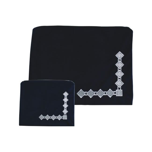 Tefillin & Tallit Cases - Blue Velvet