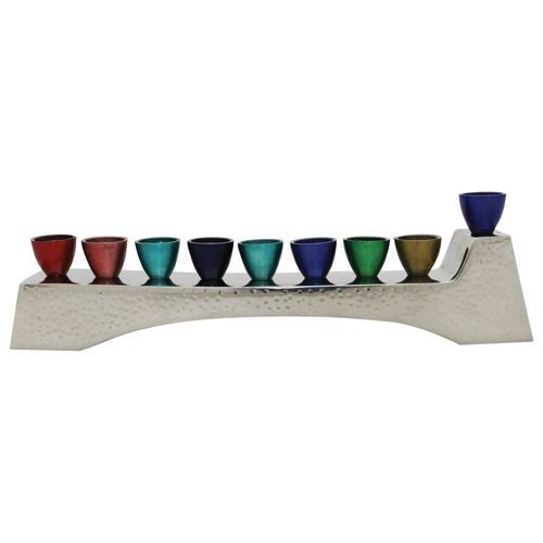 Multi-colored Aluminum Menorah