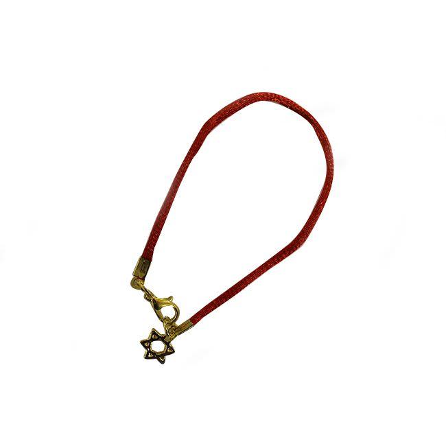 צמיד קבלה מגן דוד - זהב