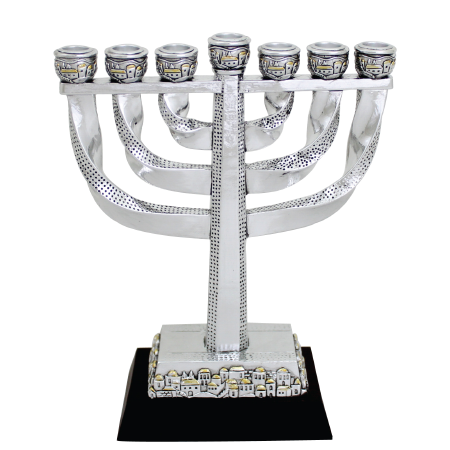 "Seven branch Menorah ""Jerusalem"""