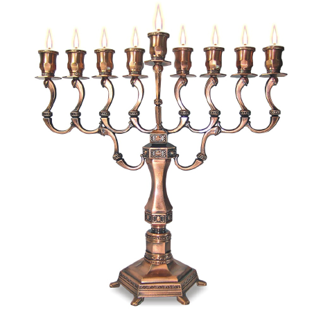 "Chanukah Menorah ""Diamond"" copper"