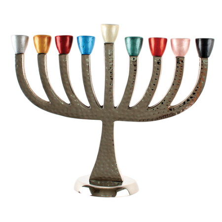 "Chanukah Menorah ""Colorful"""