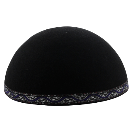 Yemenite Kippah with colorful band