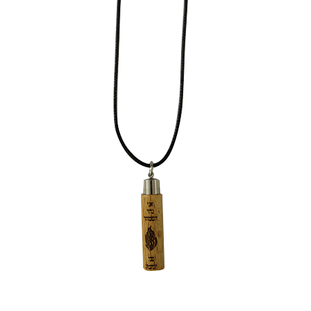"Wooden pendant with ""The Note"" - black"