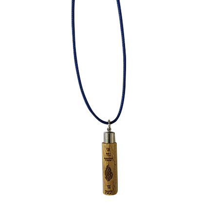 "Wooden pendant with ""The Note"" – blue"
