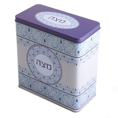 Matzah Box - Purple and Light Blue