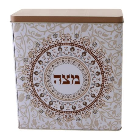 Matzo box - brown and cream