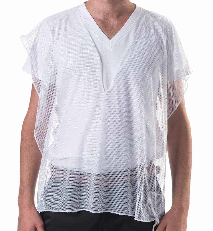 Mesh undershirt tzitzit - size L