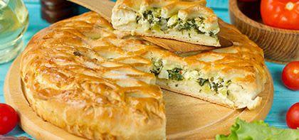 עוגת בורקס פילו במילוי כרישה וגבינת פטה כבשים