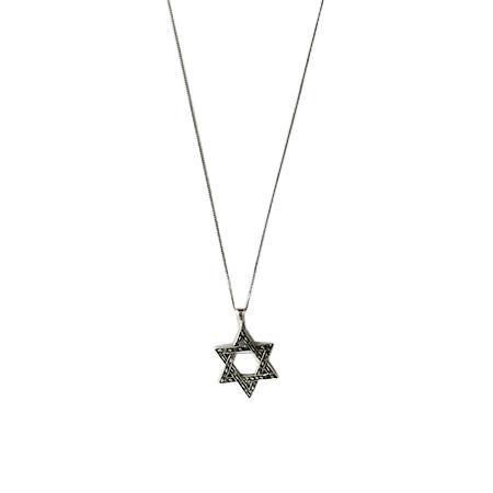 Cadena Maguen David - Plata 925 . Moshe Tzarfati
