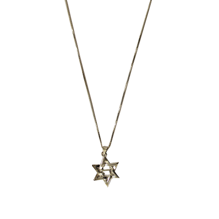 "Star of David necklace (925 silver) with the letter ""ה"""