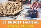Le budget familial avant Pessah'