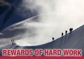 Rewards of Hard Work
