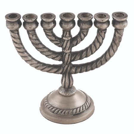 מנורה שבעה קנים - אלומיניום גימור פיוטר