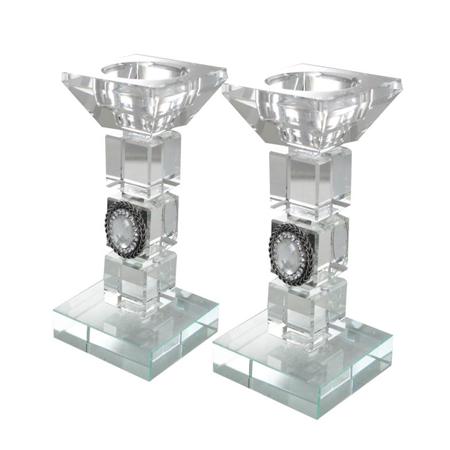 "Kristallines Kerzenleuchter-Paar ""Brillant"""