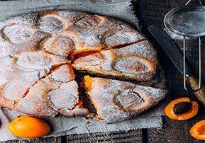 עוגת לימון משמש ויוגורט