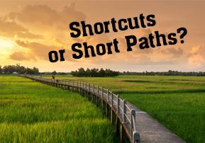 Shortcuts or Short Paths?