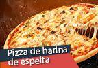 Pizza de harina de espelta