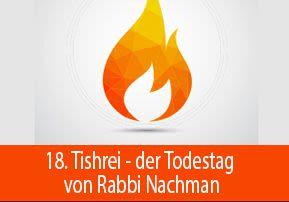 18. Tishrei - Todestag von Rabbi Nachman