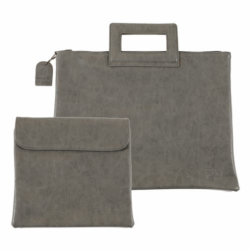 Talit and Tefillin Carrying Bags of Gray Imitation Leather