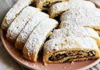 עוגיות מגולגלות עם תמרים אגוזים וקינמון