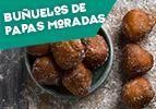Buñuelos de papas moradas