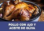 Pollo con ajo y aceite de oliva