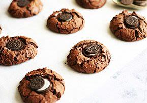 Mini Oreo Chocolate Fudge Cookies