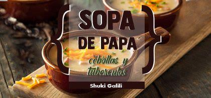 Sopa de papa, cebollas y tubérculos