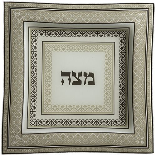 Glass Matzah Plate (for Passover)