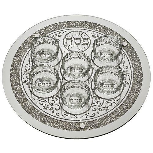 Glass Pessach (Passover) Seder Plate