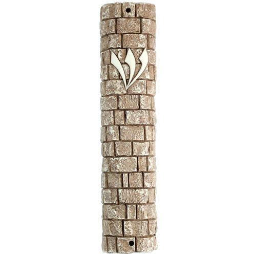Mezuzah with Appearance of the Kotel Wall Stones