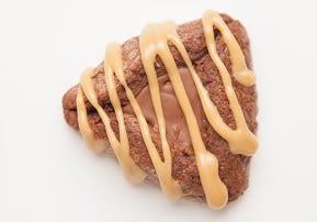 Chocolate & Peanut Butter Drizzle Hamantashen