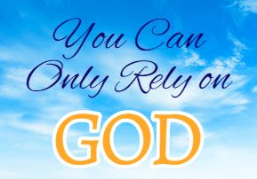 Corona: You Can Only Rely on God