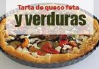Tarta de queso feta y verduras