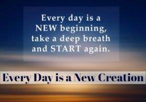 Shmini: Every Day is a New Creation
