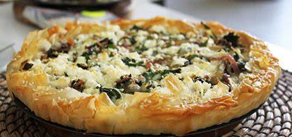 Tarte au Filo et aux fromages