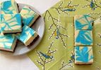 Blue and White Cheesecake Squares