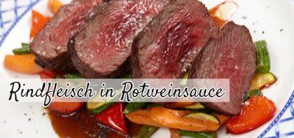 Rindfleisch in Rotweinsauce