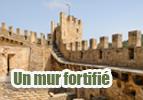 Un mur fortifié
