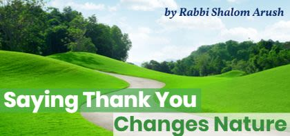Thank You Changes Nature